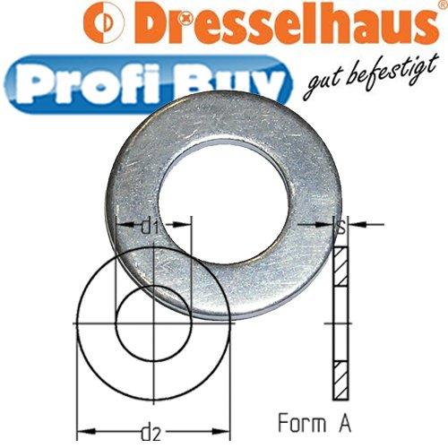 Unterlegscheiben DIN 125 Form A | M5 (5,3/10mm) | VE = 100 Stück | galv. verzinkt