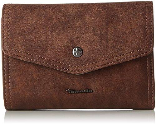 Tamaris Damen Bea Small Wallet with Flap Geldbörse, Braun (Cognac Comb), 4x11x14.5 cm (Tote Tasche Flap Kleine)