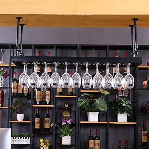 DUDDP Weinflaschenhalter Weinregal Weinglas Kleiderbügel Weinregal Kunst Weingläser Rack hängenden Becher Rack, kreative Weinglas Halter Stemware Halter Weinregal (schwarz) (Size : 60 * 35CM) Stemware Fall