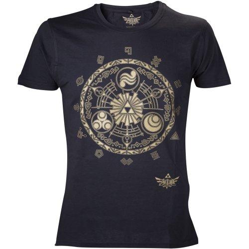 nintendo-t-shirt-l-zelda-golden-map-schwarz