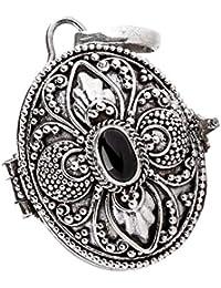 windalf colgante Dana H: 3.2cm Medieval medallón con Onyx mano de plata de ley 925