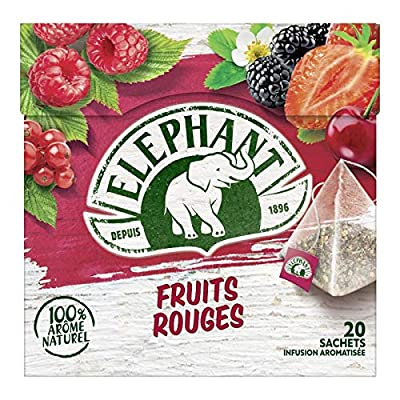 Elephant - infusion fruits rouges 36g - Lot De 3 - Prix Unitaire - Livraison Gratuit En France Métropolitaine Sous 3 Jours Ouverts