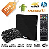 W95 4K Android 7.1 TV Box, 2018 Model C Smart TV Box, Amlogic