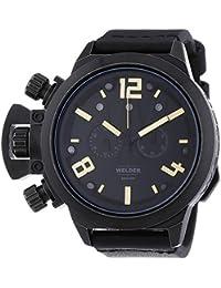 Welder 3611 - Reloj de cuarzo unisex, correa de cuero color negro