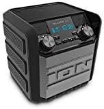 ION Audio Tailgater Go | Waterproof Compact Wireless Portable Bluetooth Speaker System with Built-in AM/FM Radio, Rechargeable Battery and USB Power bank