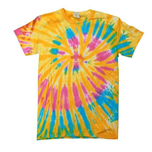 Colortone Colortone Unisex Batik T-Shirt 'Swirl'/Aurora, S