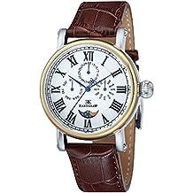 Thomas Earnshaw ES-8031-02 - Reloj para hombre con esfera analógica de color blanco y correa de cuero marrón