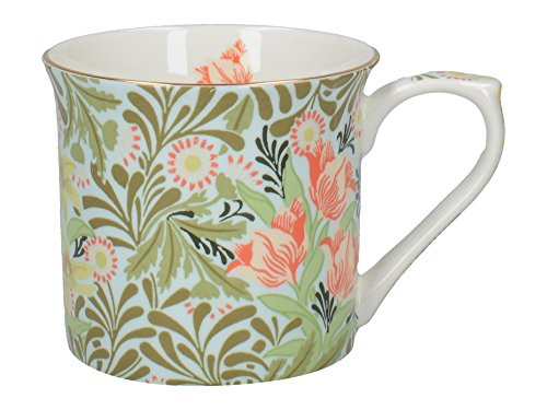 V&A William Morris Bower Wallpaper Bedruckte Kaffeetasse ausfeinemKnochenporzellan, 230 ml (8 fl.oz.) -