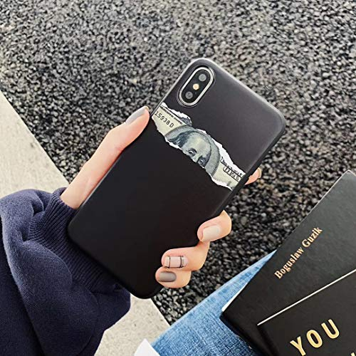 VIWIV Für iPhone Case XS Max Hülle Spoof Old Dollar 6/6s/7/7 Plus Protective Cover Fashion Hipster Apple Xr Creative Mobile Phone Shell 2019,Black,iPhoneXR (Dollar-iphone-zubehör)