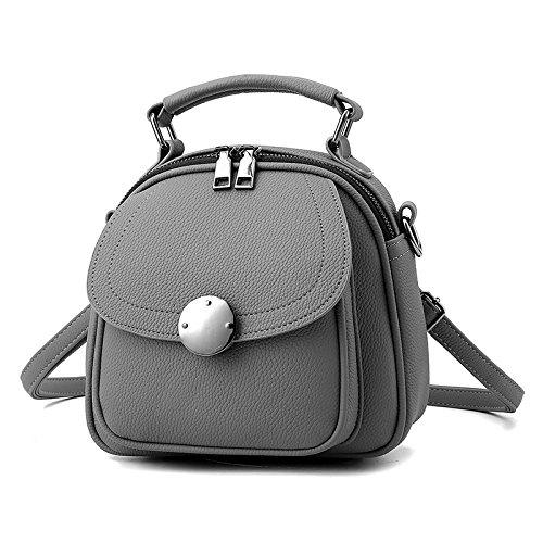 MDRW-Damenhandtaschen Winter Multifunktionale Rucksack Rucksack Rucksack Alles Mit Mini - Tasche Neue Welle Im Winter gray