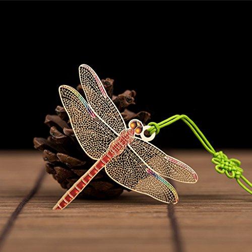 CJH Kreatives Metallmessing-Lesezeichen-chinesische Art-Antike-Lesezeichen-Lehrer Classmates Birthday Gift ( Color : Dragonfly )