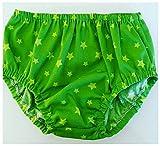 Cubrepañal tela estrella verde ranita bebe