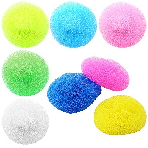 COM-FOUR® 12x Topfreiniger aus Kunststoff, Scheuerpads in verschiedenen Farben (12 Stück - Farbmix)