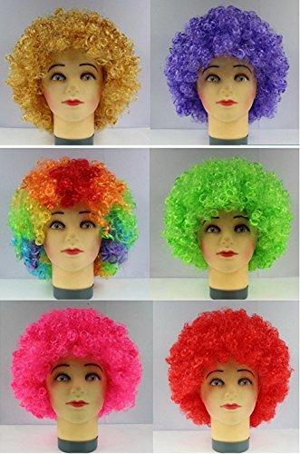 Bllomsem Explosive Cosplay Kopf Perücke Partei Fans verrückt lustige Kostüm lustig Props Clown Perücke Grün