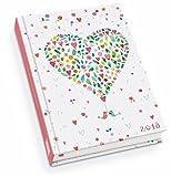 Happy Heart Taschenkalender 2018 - Terminplaner mit Wochenkalendarium - Format 11,3 x 16,3 cm