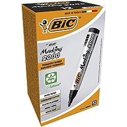 BIC Marking 2000 ECOlutions marcadores permanentes punta media - Negro, Caja de 12 unidades