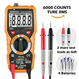 Multimeter AIDBUCKS PM18 Digital Multimeter Messgeräte Digitales Voltmeter Amperemeter Ohmmeter 6000 Counts True RMS cat iii 1000V Messgerät für AC DC Spannug Strom Widerstand Kapazität sowie NCV usw