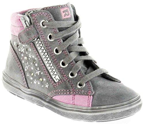 Richter Kinder Halbschuhe Blinkies Sneaker grau Velour Warm Mädchen-Schuhe WMS 4449-241-6301 ash Ilva, Farbe:grau, Größe:35