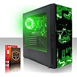 Fierce EXILE RGB PC Gamer - Rápido 4 x 3.8GHz Quad Core AMD A-Series 7600 - 1TB Disco duro - 16GB de 1600MHz DDR3 RAM/Memoria - AMD Radeon R7 Integrated Graphics - HDMI, USB3, Wi-Fi - Entrada perfecta en juegos de PC - Windows no Incluido - Garantía De 3 Años - (407773)