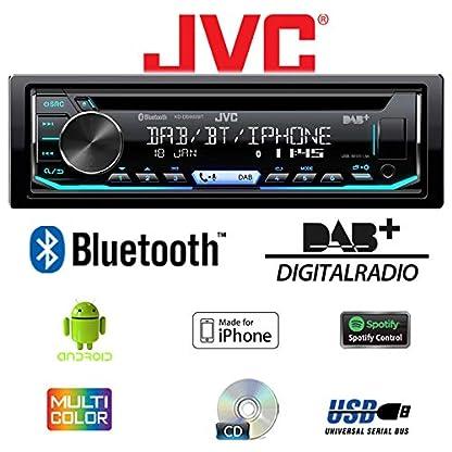 Toyota-Yaris-P1-1999-2003-Autoradio-Radio-JVC-KD-DB902BT-Bluetooth-DAB-CD-Spotify-USB-Android-iPhone-Einbauzubehr-Einbauset