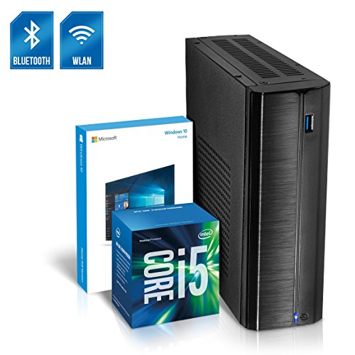 Kiebel Business Mini PC Nano 8.0 [190149] Intel Core i5 8500T 6x2.1GHz Sixcore (Turbo bis 3.5GHz), 8GB DDR4, 1000GB SSHD, Intel Grafik bis UltraHD(4K), HTPC, WLAN (433Mbit), Bluetooth, Energiespar Mini Computer, Windows 10