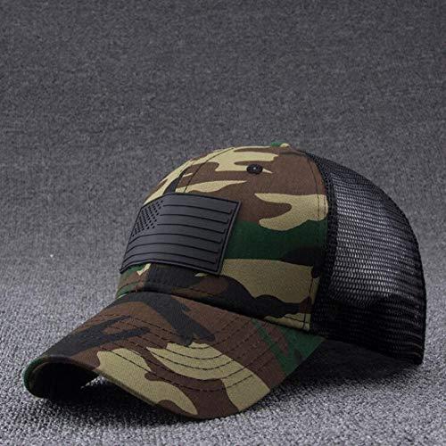 BQMO Camo Mesh Baseball Cap Männer Camouflage Knochen Masculino Sommer Hut Männer Army Cap Trucker Hip Hop Hut