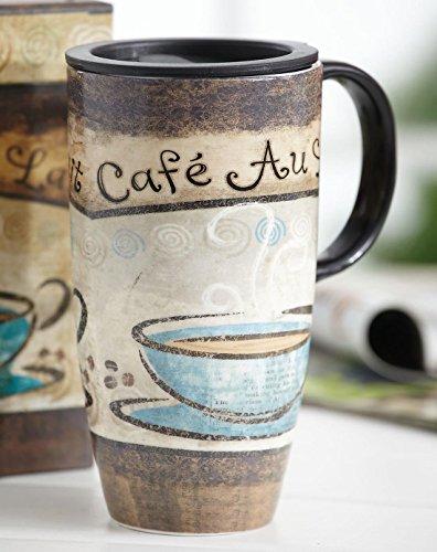 Ein Ting Große Reise Keramik Becher 17Oz versiegelt Deckel mit Geschenk-Box cafe -