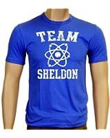 Coole-Fun-T-Shirts Herren T-shirt Team Sheldon - Big Bang Theory !  Vintage Slimfit