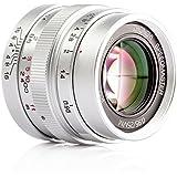 Zhongyi Mitakon Speedmaster 25mm F0.95 Prime Fixed Lens with TARION Storage Bag for Micro Four Thirds MFT M43 M4/3 Mount Mirrorless Cameras Silver