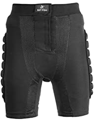 Shinmax Pantalones Acolchados de Compresión, Hombres Pantalones Acolchados de Protección para Mujeres Pantalones de Compresión para Fútbol Baloncesto Paintball Snowboard Patinaje Esquí Ski Skate Roller Padded Pants