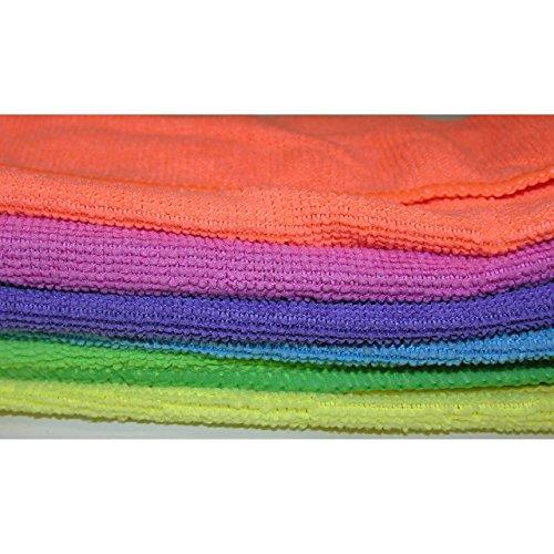 6x Mikrofaser Tücher neonfarben Spültuch Qualität 30x30cm 80/20 Tuch