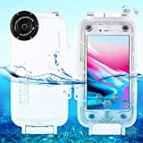 Egurs Underwater Waterproof Diving Case für iPhone 7 iPhone 8, 40m / 130ft Tiefsee-Tauchgehäuse,...