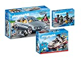 PLAYMOBIL City Action SEK-Spezialeinsatz - 3er Set: 9361 SEK-Zivilfahrzeug + 9364 Amphibienfahrzeug mit Unterwassermotor + 9365 SEK-Team