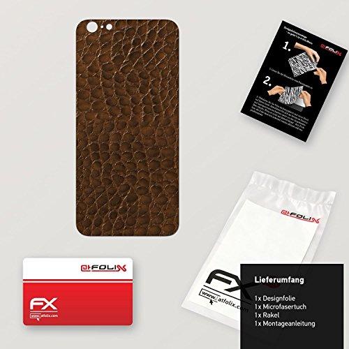 """Skin Apple iPhone 6 Plus """"FX-Carbon-Black"""" Designfolie Sticker FX-Everglade-Brown"""
