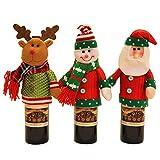 SSLW Weihnachten Wein Flaschen Home Dekoration Supplies Champagner Flasche Sets Wein Flasche Dekorationen elk