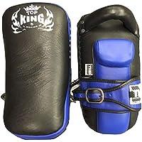 MMABLAST Top King Kicking Pads Super (Curved) TKKPS (CB) - Negro/Azul, S, Negro/Azul