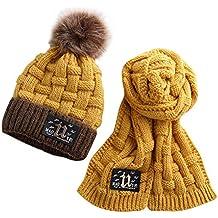 ACMEDE Cappello e Sciarpa Lavorati a Maglia per Bambini Invernali 9193de17fda2