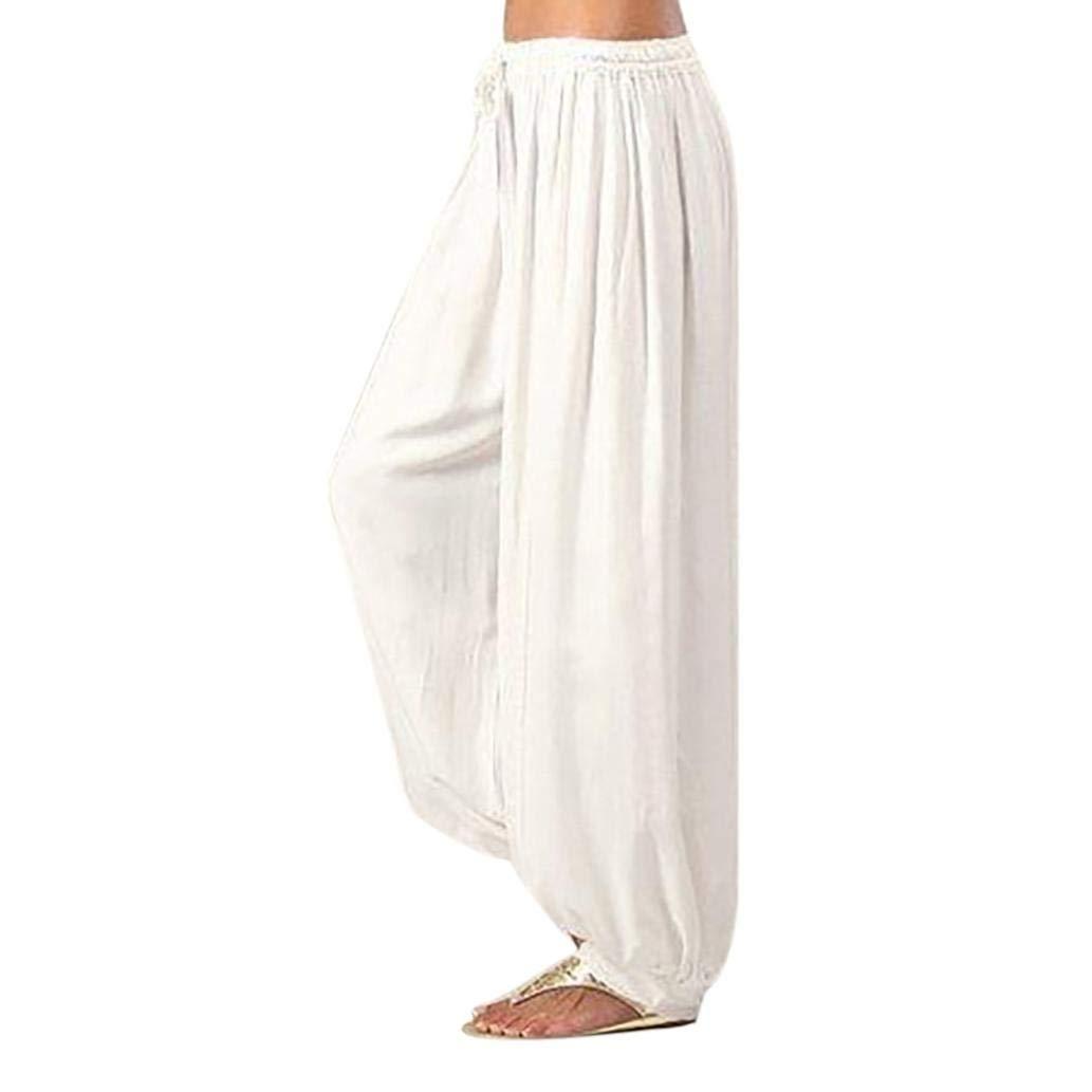 Pantaloni Larghi Donna Harem Baggy Hip Hop Lunghi Pantaloni Estivi Ragazza alla Moda Pantaloncini Yoga Jogging Sportivi