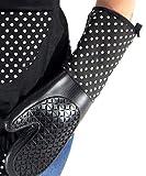 Manoplas para ollas y hornos de silicona Ovenglove silicona 2pzs. negro con puntos - Tinas Collection