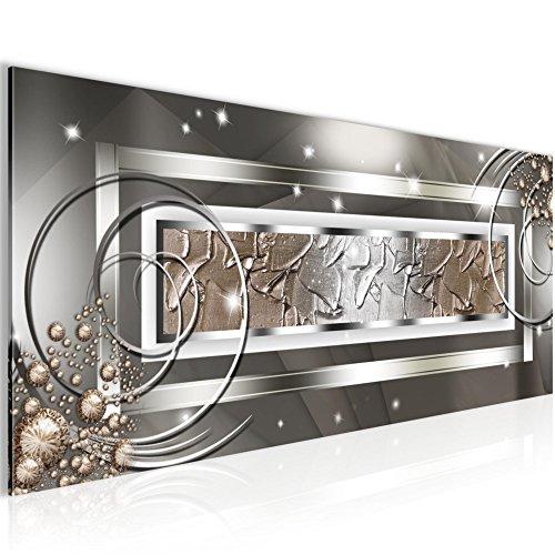 Weihnachtsangebot !!! - Bilder Abstrakt Silber Grau- Bild Vlies Leinwand - Kunstdrucke Wandbild - XXL Format deko - mehrere Farben und Größen im Shop - 100x40 cm !!! 100% MADE IN GERMANY !!! 108012a