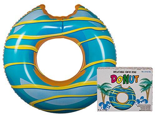 OOTB 91/4175anello gonfiabile Donut con morso gonfiabile Donut ciambella circa Ø 120cm turchese/Giallo