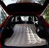 KIMSAI Lit Gonflable Multifonctionnel De Lit De Voiture De Véhicule Tout-Terrain PVC + Coussin D'air Floqué 180 * 137 Cm