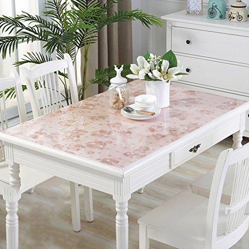 Weichglas Pvc Tischdecken Wasserdicht Anti-Hot Transparent Tisch Pad Tischdecke Couchtisch Pad Kunststoff Tischdecke Kristallplatte ( Farbe : B , größe : 100*100cm ) (Kunststoff Couchtisch Rechteckiger)