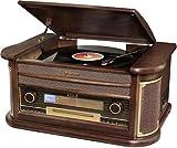 Roadstar HIF-2030BT Retro Radio Echtholz mit Bluetooth CD-MP3 Player