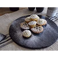 The Large Round Cheeseboard/Platter by Scottish Slate Gift, Gift Boxed size 300mm