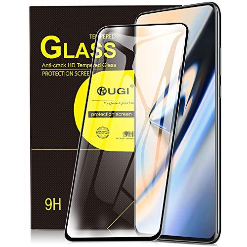 KuGi. pour Oneplus 7 Pro/Oneplus 7t Pro Protection écran, Ultra Résistant Protecteur d'écran [Dureté 9H] Verre trempé pour Oneplus 7 Pro/Oneplus 7t Pro (Noir)