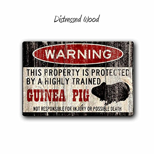 C-US-lmf379581 Guinea Pig Sign Funny Metal Signs Guinea Pig Guinea Pig Cage Guineapig Warning Sign Pet Gift Cavy Small Pet Guinea Pig Gift (C Und Pig-c Guinea)
