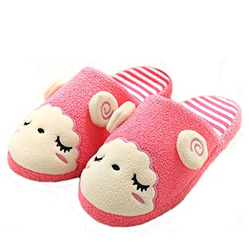 Uomini Paragon Disegno Pantofole Rosa Animato Donne Simpatico Pecora Pantofole Calde Scarpe Inverno 01 Rosso Cartone Pantofole Felpa FgpdqHgrxw