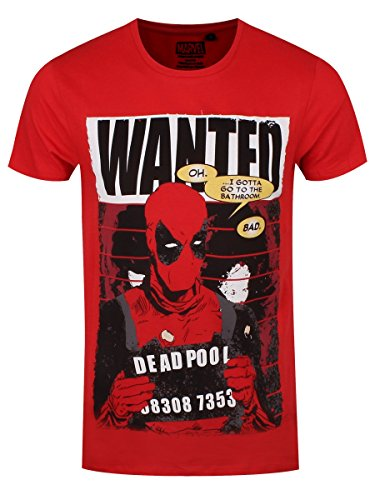 Deadpool Wanted Poster T-Shirt rot Rot