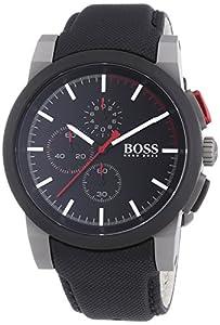 Hugo Boss 1512979 - Reloj de cuarzo para hombre, con correa de cuero, color gris de Hugo Boss